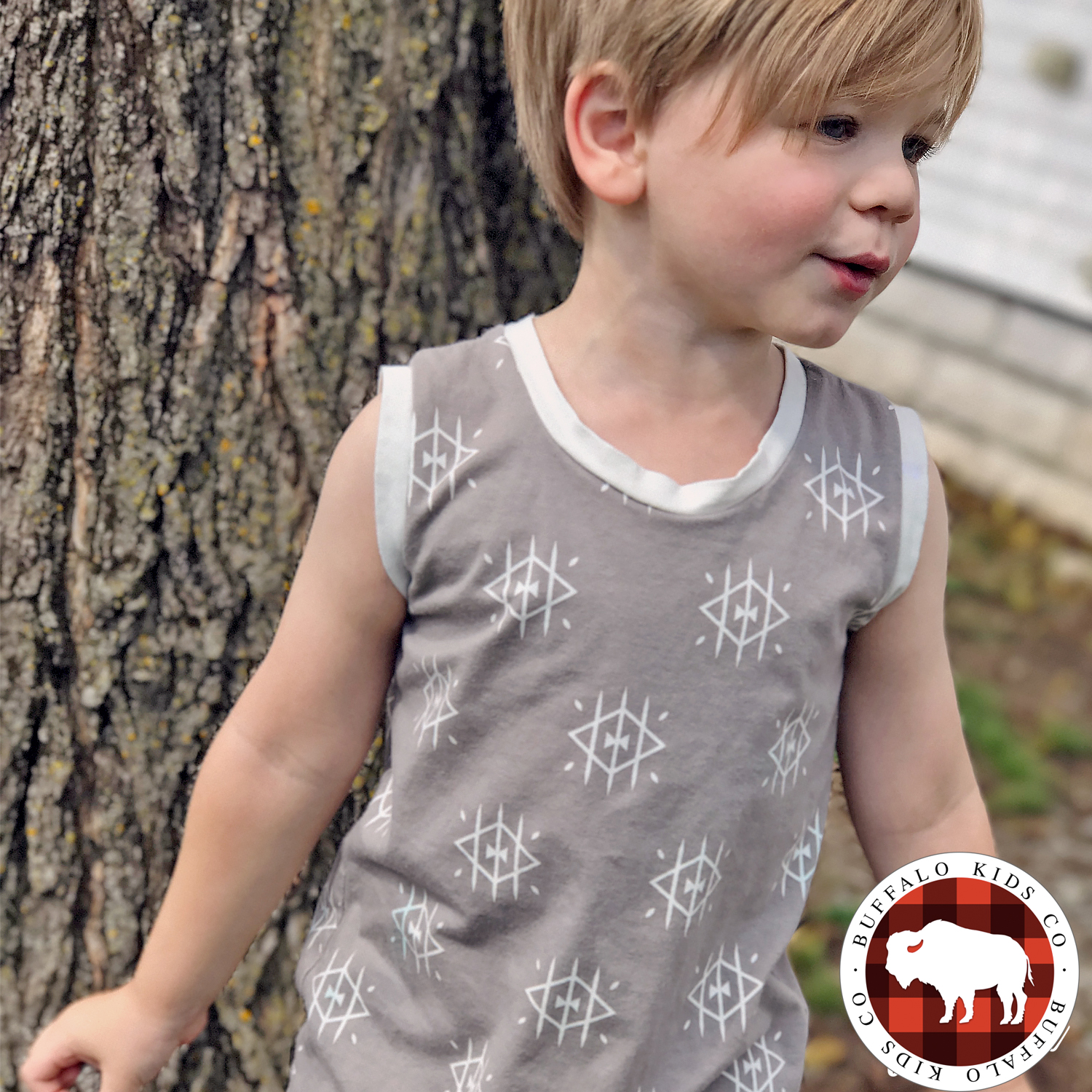 Ojos Snap Free Romper for Kids. Fall Romper. Modern Children's Clothing. Handmade One Piece for Children.